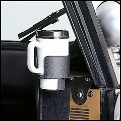 Outland Windshield Mount Cup Holder Textured (Black) For 1976-95 Jeep CJ Series & Wrangler YJ 391330601