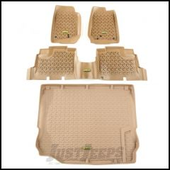 Outland (Tan) All Terrain Front, 2nd Row & Cargo Area Liner Kit 4-Pc For 2011-18 Jeep Wrangler JK Unlimited 4 Door Models 391398804