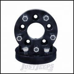 "Outland 1.25"" (Black) Aluminum Wheel Adapters Converts 5"" X 4.5"" To 5"" X 5.5"" Bolt Pattern 391520104"