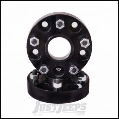 "Outland 1.375"" (Black) Aluminum Wheel Adapters Convert 5"" X 4.5"" To 5"" X 5.5"" Bolt Pattern 391520110"