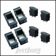 Outland Universal Rocker Switch Housing Kit With Four Interlocking Switch Housings & Four Rocker Switches 391723589