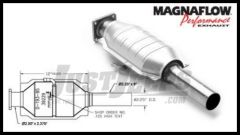 Magnaflow Direct Fit Catalytic Converter For 1986-92 Jeep Cherokee XJ With 2.5L or 4.0L (California Legal) 39229
