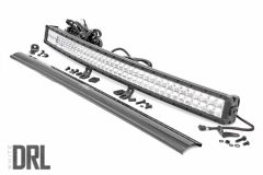"Rough Country 40"" Curved Dual Row Cree LED Light Bar (Black Series) 72940D"
