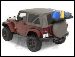 BESTOP HighRock 4X4 Tailgate Rack Bracket For 2007-18 Jeep Wrangler JK 2 Door & Unlimited 4 Door Models 41412-01