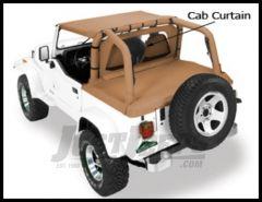 Pavement Ends Cab Curtain Black Denim For 1980-02 Jeep CJ7, Wrangler YJ & TJ 41422-15