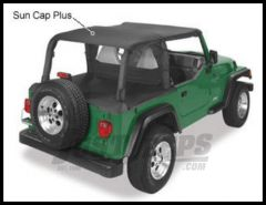 Pavement Ends Sun Cap Plus In Black Denim For 1997-02 Jeep Wrangler TJ 41530-15