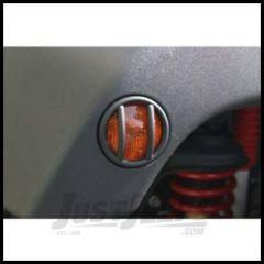 Rugged Ridge Side Marker Light Guards in Black For 2007-18 Jeep Wrangler JK 2 Door & Unlimited 4 Door Models 11231.12