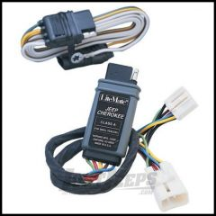 Hopkins Simple Plug-in Trailer Wiring Harness Kit For 1997-01 Jeep Cherokee XJ 42465
