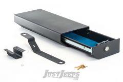 BESTOP Underseat Storage Lock Box On Drivers Side For 2007-10 Jeep Wrangler JK 2 Door Models & 2007-18 Unlimited 4 Door Models 42640-01