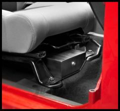 BESTOP Underseat Storage Lock Box On Passenger Side In Black For 2007-18 Jeep Wrangler JK 2 Door & Unlimited 4 Door Models 42642-01