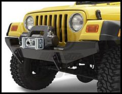 BESTOP HighRock 4X4 Front Bumper With Winch Mount In Black For 1997-06 Jeep Wrangler TJ & TLJ Unlimited Models 42901-01