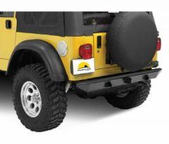"BESTOP HighRock 4X4 Rear Bumper With 2"" Receiver Hitch In Black For 1987-06 Jeep Wrangler YJ & TJ/TLJ Unlimited Models 42902-01"