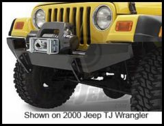 BESTOP HighRock 4X4 Front Bumper With Winch Mount In Black For 1987-95 Jeep Wrangler YJ 42908-01