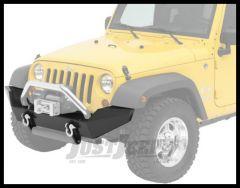 BESTOP HighRock 4X4 Front Bumper In Satin Black For 2007-18 Jeep Wrangler JK 2 Door & Unlimited 4 Door Models 42910-01
