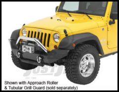 BESTOP HighRock 4X4 Tubular Grill Guard In Stainless Steel Finish For 2007-18 Jeep Wrangler JK 2 Door & Unlimited 4 Door Models 42915-00