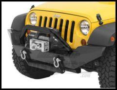 BESTOP HighRock 4X4 Tubular Grill Guard In Satin Black Finish For 2007-18 Jeep Wrangler JK 2 Door & Unlimited 4 Door Models 42915-01
