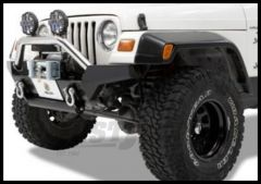 BESTOP HighRock 4X4 High Access Front Bumper With Winch Mount In Black For 1997-06 Jeep Wrangler TJ/TLJ Unlimited Models 42917-01