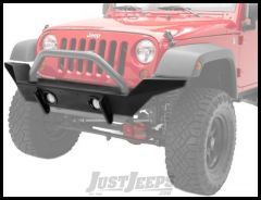 BESTOP HighRock 4X4 High Access Front Bumper With Winch Mount In Black For 2007-18 Jeep Wrangler JK 2 Door & Unlimited 4 Door Models 42918-01