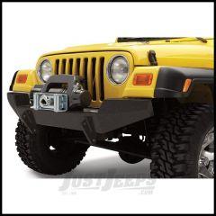BESTOP HighRock 4X4 Front Bumper With D-Ring Mounts In Matte/Textured Black For 1997-06 Jeep Wrangler TJ & TLJ Unlimited Models 44901-01