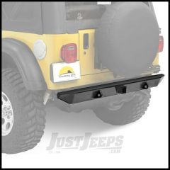 "BESTOP HighRock 4X4 Rear 2"" Receiver Hitch Bumper In Matte Black For 1987-06 Jeep Wrangler YJ, TJ & TLJ Unlimited Models 44902-01"