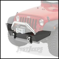 BESTOP HighRock 4X4 Front Bumper In Matte/Textured Black For 2007-18 Jeep Wrangler JK 2 Door & Unlimited 4 Door Models 44910-01