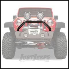 BESTOP HighRock 4X4 Tubular Grill Guard In Matte/Textured Black For 2007-18 Jeep Wrangler JK 2 Door & Unlimited 4 Door Models 44915-01