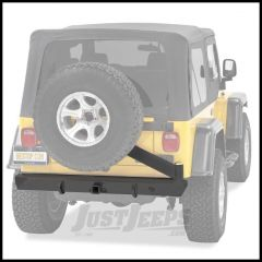 BESTOP HighRock 4X4 Rear Bumper With Tire Carrier & D-Ring Mounts In Matte/Textured Black For 1997-06 Jeep Wrangler TJ & TLJ Unlimited 44931-01