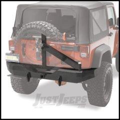 BESTOP HighRock 4X4 Rear Bumper With Tire Carrier & D-Ring Mounts In Black For 2007-18 Jeep Wrangler JK 2 Door & Unlimited 4 Door Models 44934-01