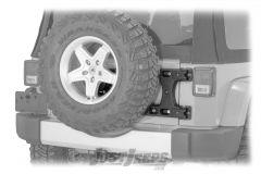 TeraFlex Alpha HD Hinged Carrier & Adjustable Spare Tire Mounting Kit For 2007-18 Jeep Wrangler JK 2 Door & Unlimited 4 Door Models 4838150
