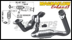 Magnaflow Direct Fit Catalytic Converter For 2007-08 Jeep Grand Cherokee With 3.7L (Y-Pipe Assembly) 49444