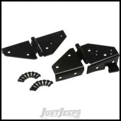 Kentrol Stainless Steel Windshield Hinge Set For 1976-95 Jeep CJ & Wrangler YJ (Black) 50403