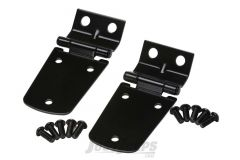 Kentrol Stainless Steel Hood Hinge Set In Black For 1997-06 Jeep Wrangler TJ & TLJ Unlimited Models 50476