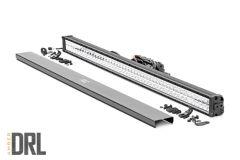 "Rough Country 50"" Cree LED Light Bar (Dual Row | Chrome Series With Amber DRL) 70950DA"