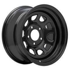 Pro Comp 51 Rock Crawler Series Wheel 15x10 With 5 On 5.50 Bolt Pattern & 3.75 Backspace In Flat Black PCW51-5185F