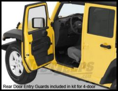 BESTOP HighRock 4X4 Entry Guards For 2007-18 Jeep Wrangler JK Unlimited 4 Door Models 51051-01