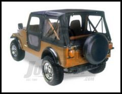 BESTOP Replace-A-Top Replacement Skin With Door Skins In Black For 1976-86 Jeep CJ7 51118-01