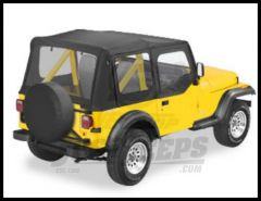 BESTOP Replace-A-Top With Door Skins & Clear Windows In Black Crush For 1986-87 Jeep Wrangler YJ Models 51119-01