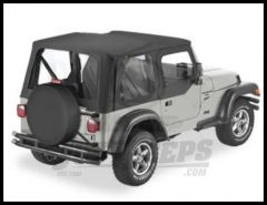 BESTOP Replace-A-Top With Half Door Skins & Clear Windows In Black Denim For 1997-02 Jeep Wrangler TJ Models 51121-15