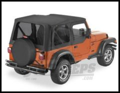 BESTOP Replace-A-Top With Half Door Skins & Tinted Windows In Black Denim For 1997-02 Jeep Wrangler TJ Models 51124-15