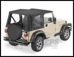 BESTOP Replace-A-Top With Clear Windows In Black Denim For 1997-02 Jeep Wrangler TJ Fits Full Steel Doors 51127-15