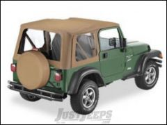 BESTOP Replace-A-Top With Clear Windows In Spice Denim For 1997-02 Jeep Wrangler TJ Fits Full Steel Doors 51127-37