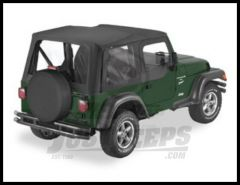 BESTOP Replace-A-Top With Half Door Skins & Clear Windows In Black Diamond For 2003-06 Jeep Wrangler TJ 51128-35