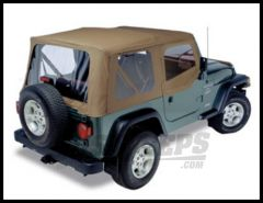 Pavement Ends Replay Replacement Top Dark Tan For 1997-02 Jeep Wrangler TJ (Fits With Half Steel Doors) 51131-33