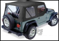 Pavement Ends Replay Replacement Top In Black Denim With Half Doors For 1997-02 Jeep Wrangler TJ 51131-15