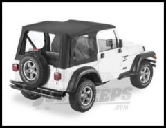 BESTOP Replace-A-Top With Clear Windows For 2003-06 Jeep Wrangler TJ Fits Full Steel Doors 51178-35
