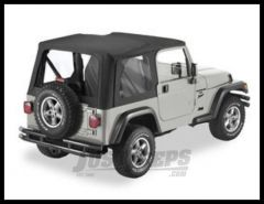 Pavement Ends Replay Replacement Top In Black Denim With Full Doors For 1997-02 Jeep Wrangler TJ 51198-15