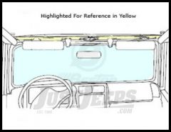 BESTOP Windshield Channel Drill-In Style For 1997-02 Jeep Wrangler TJ 51210-01