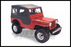 BESTOP Tigertop With 1 Piece Full Soft Doors In Black For 1953-64 Jeep CJ3B 51404-01