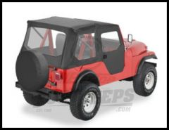 BESTOP Tigertop With 1 Piece Full Soft Doors In Black For 1955-75 Jeep CJ5 & 1951-62 M-38A1 51405-01