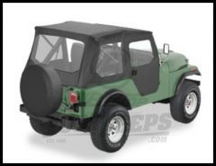 BESTOP Tigertop With 1 Piece Full Soft Doors In Black For 1976-83 Jeep CJ5 Series 51407-01